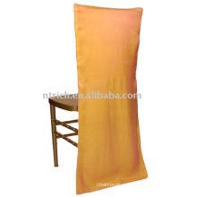 cubierta de la silla del satén