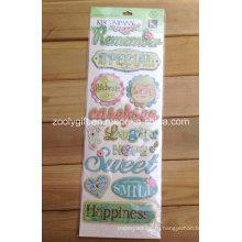 Бумага ручной работы Креативное ремесло Скрапбукинг Приукрашивание Блестящие клеевые габаритные наклейки