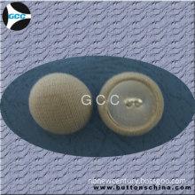 White Cover Fabric Button