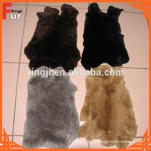 (Para la prenda) teñido color rex piel de conejo
