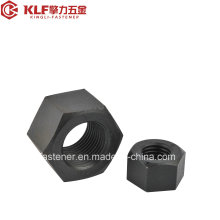Heavy Hex Sturctural Nuts mit schwarzem Finish (ASTM A563)