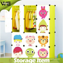 DIY Utility Folding Kids Storage Box Cute Bedroom Plastic Wardrobe
