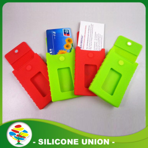 Red and Green Silicon Phone Card Holder
