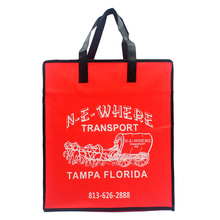 Recyclable red Non Woven Handle Bag