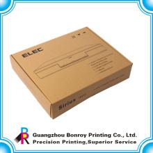 Caja personalizada plegable de bajo costo de papel kraft con impresión de logo
