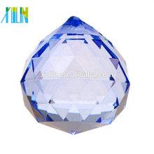 Bola de faceta pingente de cristal roxa 40mm lustre
