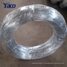 Яркая поверхность электро оцинкованной проволоки, металлический провод GI, железная проволока
