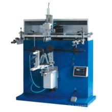 Rond en plastique bouchon / tasse / embouteilleur écran imprimante semi-automatique sérigraphie machine avec support à vendre usine