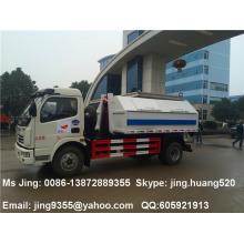 Low pirce of Small bin lifter garbage truck 5cbm capacity garbage truck sale in Djibouti
