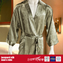 Luxury Hotel Use Solid Color Man's Silk Robe