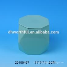 Tasse en céramique personnalisée sans poignée en forme spéciale, tasse en céramique avec couvercle