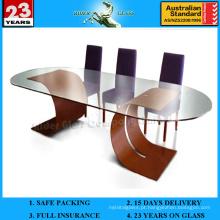 Mesa de café em vidro de 3-19 mm com AS / NZS2208: 1996