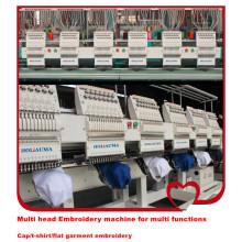 HOLiAUMA flache computergesteuerte Stickmaschine Hochgeschwindigkeitsmaschine für Cap / T-Shirt Stickerei
