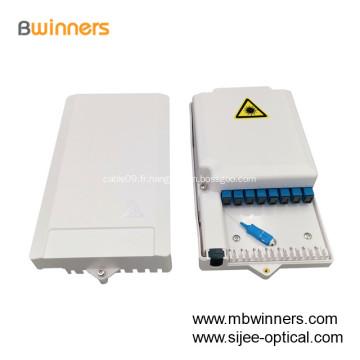 Boîte de distribution de câble à fibre optique pour terminal d'accès à la fibre 8 noyaux FTTH BOX