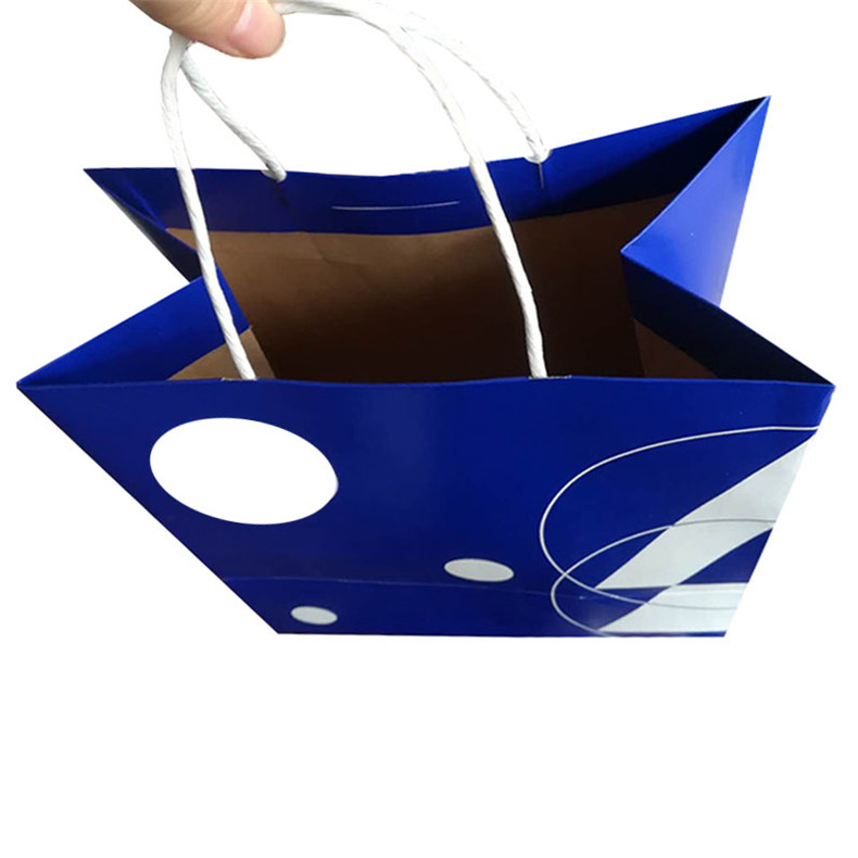 the portable outer packaging paper bag