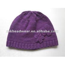 Bonnet en acrylique tricoté à la mode