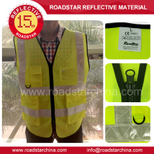 chaleco de seguridad reflectante de advertencia amarillo y naranja de alta calidad
