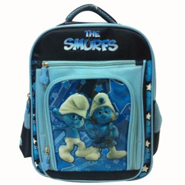 O saco de escola de Smurfs