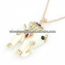 Mode mini éléphant style alliage diamant 33g-700x70x36mm collier pendentif gros collier bijoux 12012018