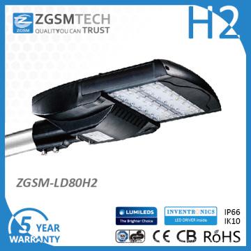 IP66 Ik10 80W Cobra Head Straßenbeleuchtungen mit Lm-80