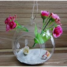 Esfera de vidro pendurada personalizada com um grande buraco