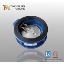 Válvula de retención de sellado de goma de placa única CF8m