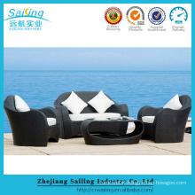 4 Piece Garden Line Patio Set Bistro Rattan Metal Latest Design Sofa Set
