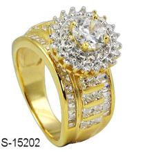 Anel de diamante de prata da jóia da forma do ouro 14k