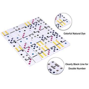 Colorful Dots Dominoes In Tin Box