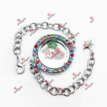 Kundengebundene Art und Weise 30mm buntes Kristall ringsumes Kleiderketten-Armband (CRL50925)