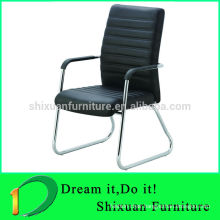 2014 modern comfortable leather stackable office chair with armrest