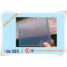 Conseil en plastique dur rigide transparent de PVC de 5.0mm