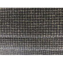 Karierter Polyester-Mischstoff