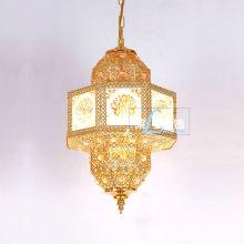 Marokkanische kleine Metall Gold Lantern LT-046