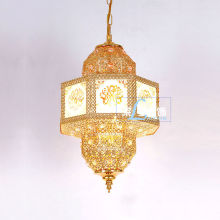 Moroccan Small Metal Gold Lantern LT-046