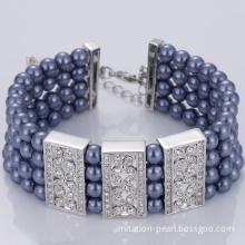 Ocean Blue Four Layers Pearl Bracelet