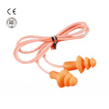 Mushroom shape silicone earplug with cord