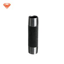 grande preto gi pipe thread aço inoxidável aço carbono mamilo