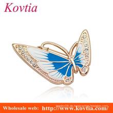 Schöne Schmetterlingsform Kristallbrosche für Hochzeitseinladung