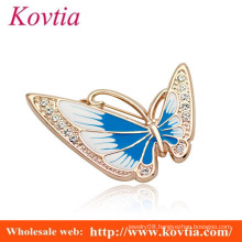 beautiful butterfly shape crystal brooch for wedding invitation