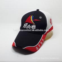 Casquillo del acoplamiento del golf del sándwich de la alta calidad con la gorra de béisbol de los deportes del bordado 3D