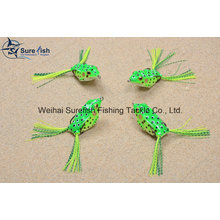 Hand Made Good Quality Hollow Body Soft Frog Fishing Lure