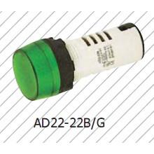 Lámpara indicadora verde, lámpara de señal, rojo amarillo azul blanco 6V