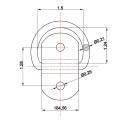 Bandeja de piso de montagem de superfície que encaixa o anel D