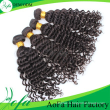 7А класс бразильские глубокая волна 100% девственных человеческого волоса утка