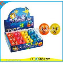 Hot Sell Kid's Toy 65mm Flashing Diamond-shape Rabbit Printed Air Bouncy Ball