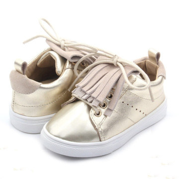 Golden PVC Outsole Infant Shoes