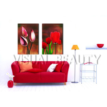 High Quality 2 Panels Wall Decor Flower Painting For Sale