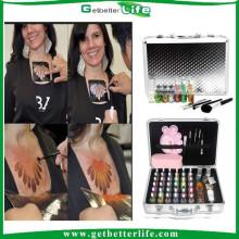 2015 getbetterlife paillettes temporaire de Shimmer body art tattoo ensemble/paillettes tatouage kit/shimmer tatouages
