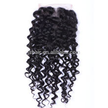 2016 hot products no tangle three part lace closure weaves